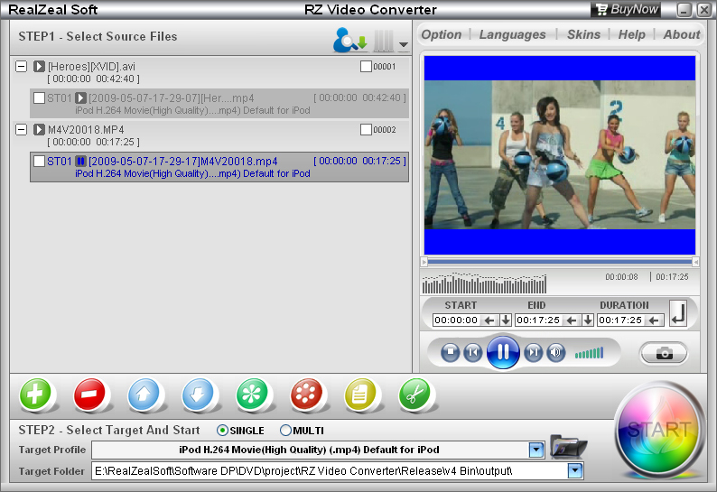Realzeal family of products rz video converter click to see rz video converter screenshots ccuart Image collections